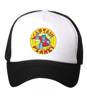 captain planet art printed cap